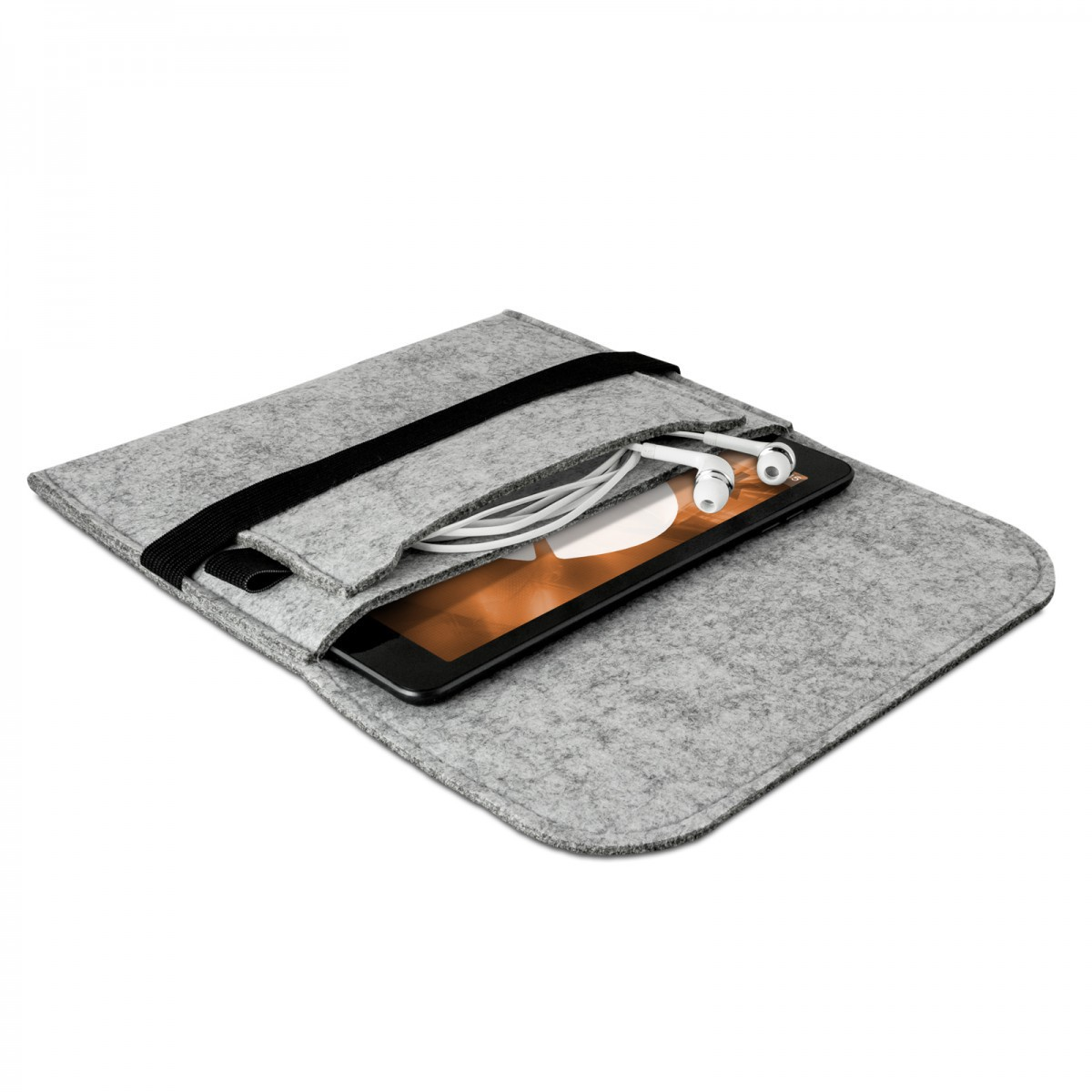 tasche f r apple ipad mini 4 3 2 1 schutz h lle filz sleeve grau ebay. Black Bedroom Furniture Sets. Home Design Ideas