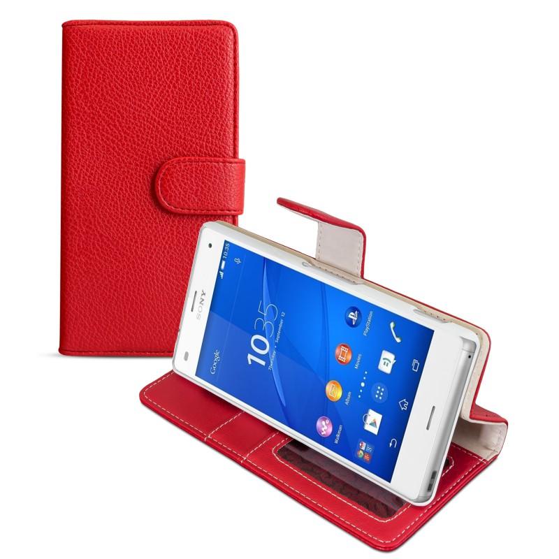 Tasche für Sony Xperia Z3 Compact Schutz Hülle Flip Case Cover Etui Kunstleder