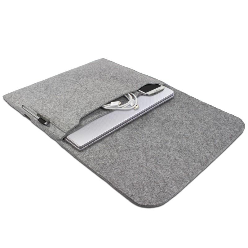 h lle f r asus zenbook 13 3 zoll schutz tasche laptop case cover filz hell grau ebay. Black Bedroom Furniture Sets. Home Design Ideas