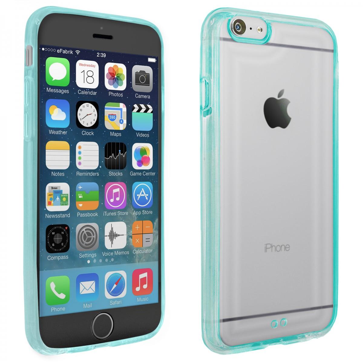 efabrik silikon h lle f r apple iphone 6s schutzh lle blau. Black Bedroom Furniture Sets. Home Design Ideas