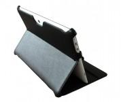 eFabrik Ultra Slim Tasche für Asus MeMo Pad Full HD10 ME302 ME302C ME302KL 25,7 cm (10,1 Zoll) Hülle Schutztasche Case mit verstellbaren Standfunktion Leder-Optik schwarz