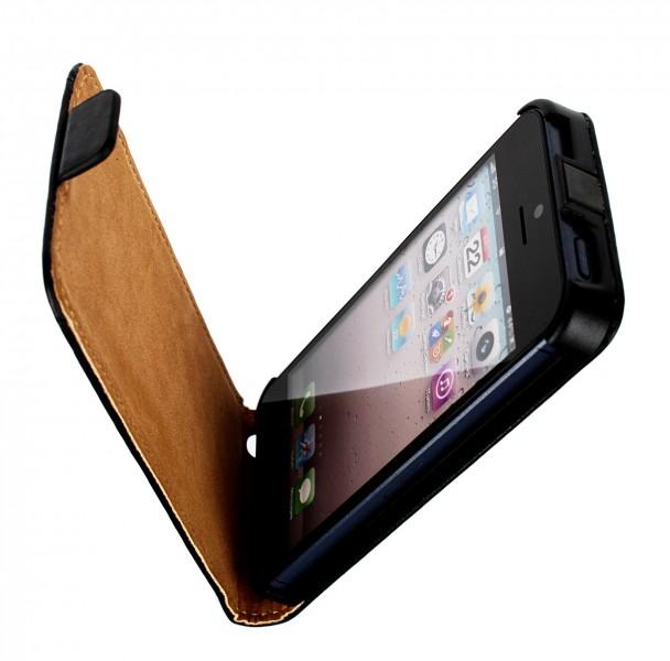 h lle f r apple iphone 5 tasche in edler kunstkunstleder. Black Bedroom Furniture Sets. Home Design Ideas