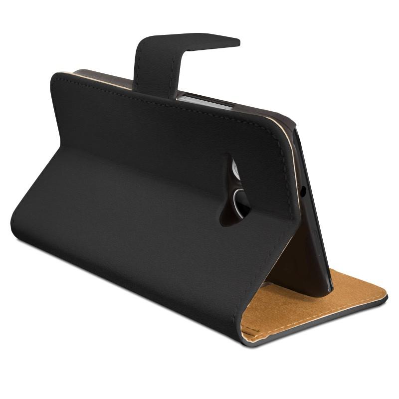efabrik kunstleder schutzh lle f r htc one mini 2 case handy wallet cover schwarz. Black Bedroom Furniture Sets. Home Design Ideas