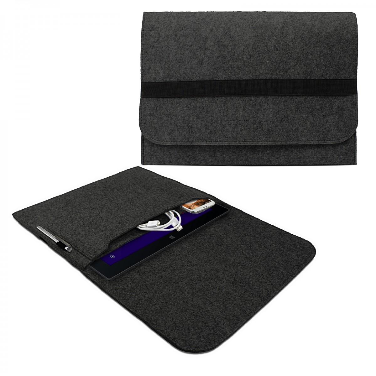 efabrik schutz h lle f r tablet 10 2 12 2 zoll tasche cover case zubeh r filz dunkel grau. Black Bedroom Furniture Sets. Home Design Ideas