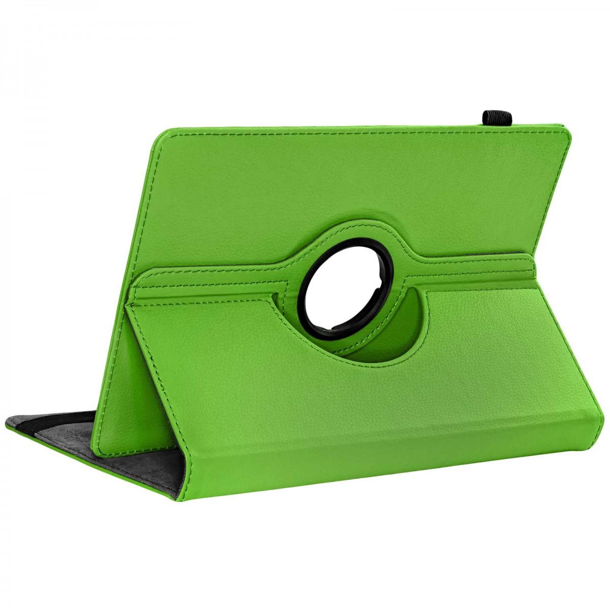 Hülle für Medion Lifetab P10506   P10505   P10400   P10401 Tasche Case Cover Kunstleder grün