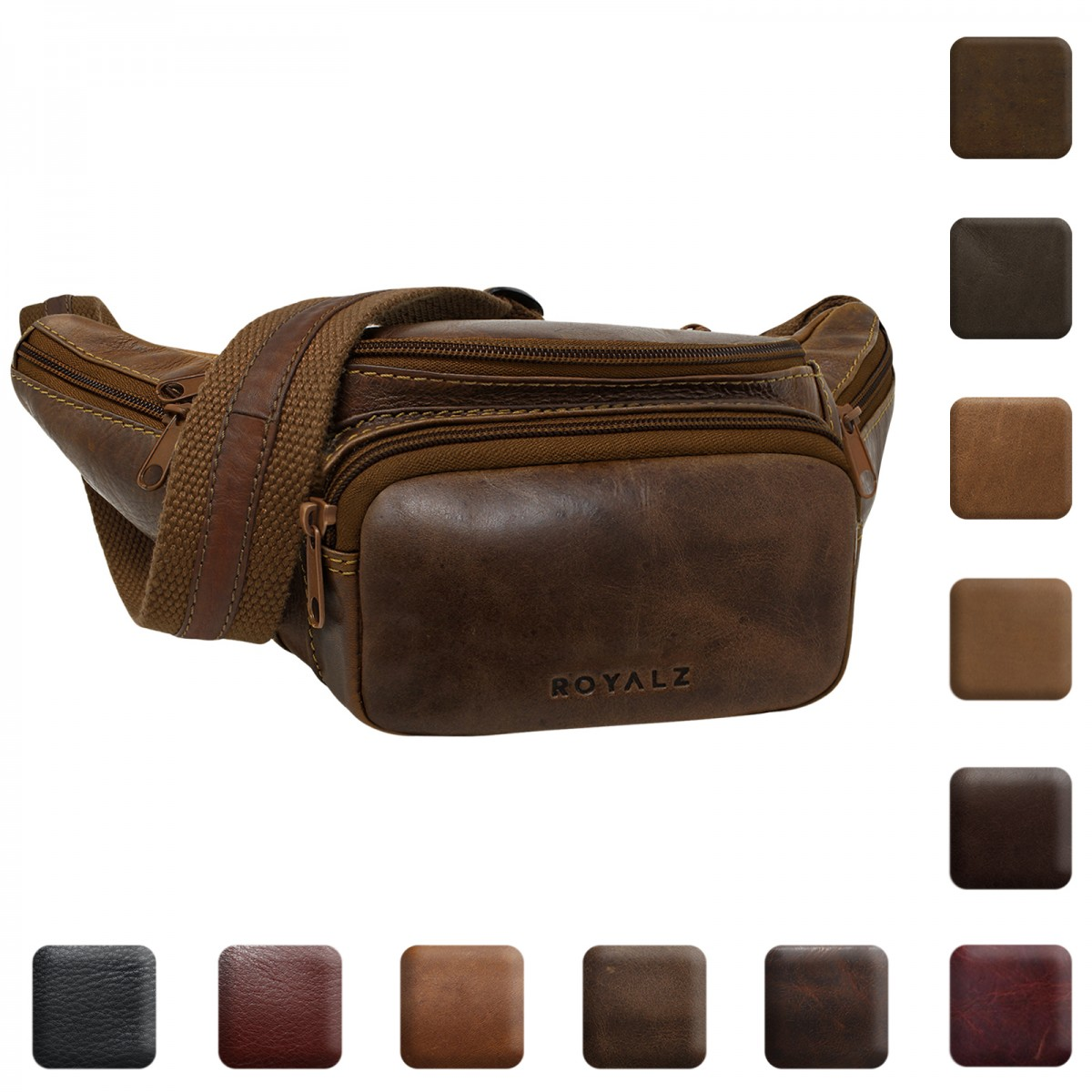 Details zu ROYALZ Gürtel Tasche Leder Bauch Hüft Reise Festival Bag Vintage